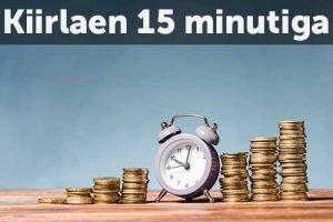 Kiirlaen 15 minutiga